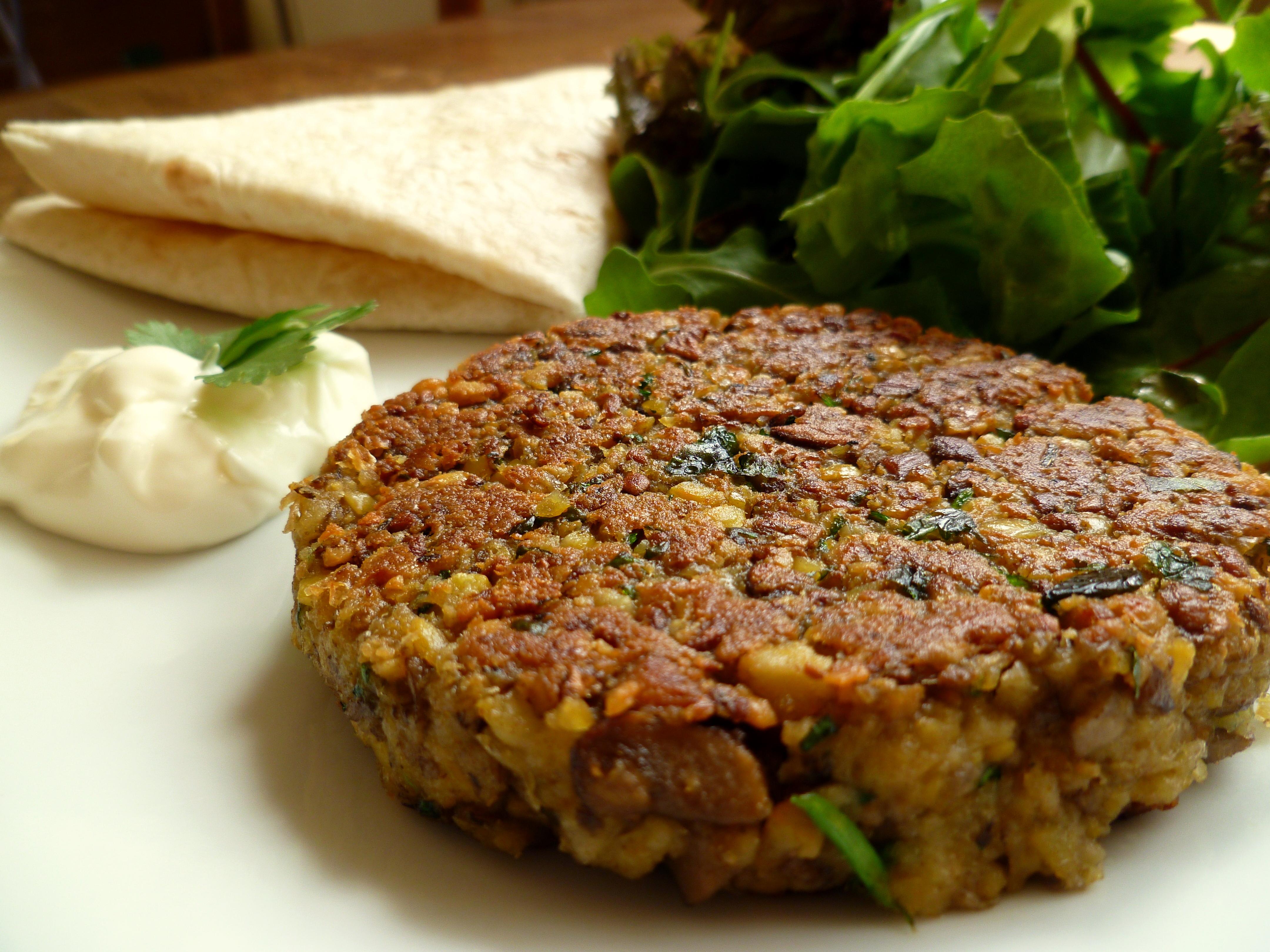 Chestnut Mushroom and Chickpea Burgers - frugalfeeding | Low Budget ...