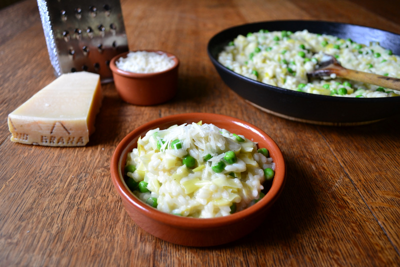 Leek and Pea Risotto Recipe
