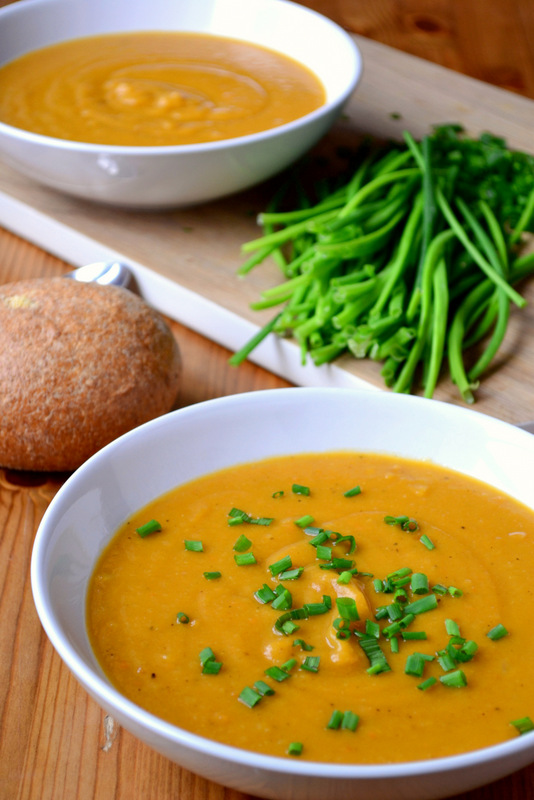 Roasted Sweet Potato And Parsnip Soup Frugalfeeding Low