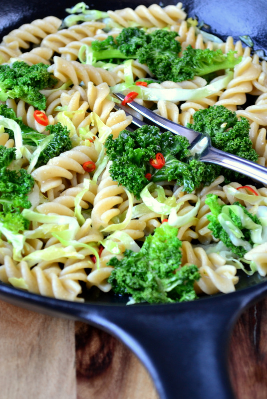 Kale and Cabbage Pasta Recipe