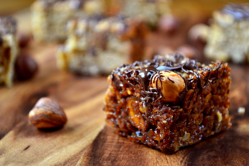 Chocolate and Hazelnut Flapjack recipe