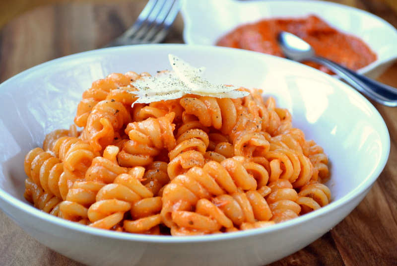 Roasted Red Pepper Pesto - frugalfeeding | Low Budget Family Recipes ...
