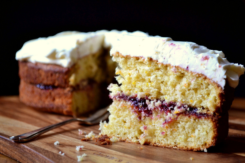 Low Sugar Birthday Cake Recipes Uk: Blackcurrant And Mascarpone Victoria Sponge