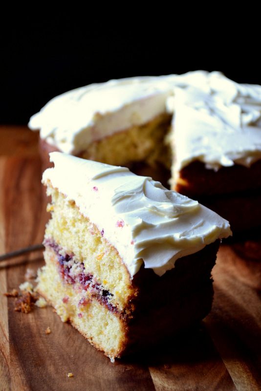 Blackcurrant and Mascarpone Victoria Sponge